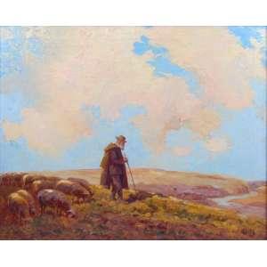 REICH ADOLF (1817 - 1963) - Pastor - OST/CID - 53 x 65 cm. Artista Austríaco especialista por cenas do cotidiano.