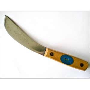 Faca industrial E.A. Berg / Eskilstuna (SWE). Comprimento total (~) 26,5 cm, lâmina, (~) 15,5 cm. Skinning Knife / C322B-6. Na caixa original. Sem uso, com sutis marcas do tempo. Anos 1950. (HB_44)