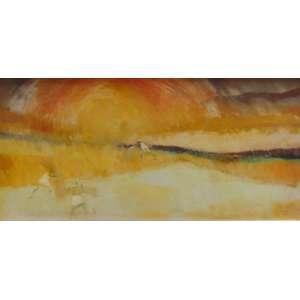 BIANCO Enrico - Terra em Fogo - OST/CID - Dat 1972 - 29 x 58 cm. No verso etiqueta da Galeria Ipanema .