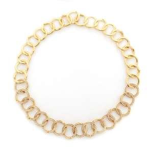 H.Stern - Colar de ouro amarelo 18k e diamantes lapidação brilhante regulando 4,50ct no total. Cerca de 58,7g. Acompanha estojo original.