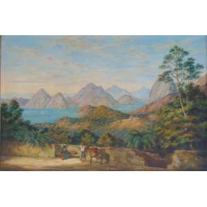 Charles Decimus Barraud (9 de maio de 1822 - 26 de dezembro de 1897)- Vista do Pão de Açúcar tomada da Estrada do Silvestre/CID - 60 x 90 cm. foi um artista viajante neozelandês. O décimo filho registrado de William Francis Barraud e sua esposa, Sophia Hull, Charles nasceu em Camberwell , Surrey , Inglaterra, em 9 de maio de 1822.Ele emigrou com sua família para a Nova Zelândia , chegando a Wellington em agosto de 1849. Sua esposa era prima do juiz Henry Samuel Chapman e foi Chapman quem encorajou a emigração, emprestando aos Barrauds uma cabana quando eles chegaram, e em que eles viveram até que sua própria casa tivesse sido construída. Barraud rapidamente se estabeleceu em Lambton Quay ganhou reconhecimento como artista.