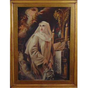 PEDRO AMÉRICO - O Voto de Heloisa - OST / CIE - dat 1896 - 54 x 38 cm.Pintura realizada 16 anos depois por encomenda da celebre obra que se encontra no Museu Nacional de Belas Artes