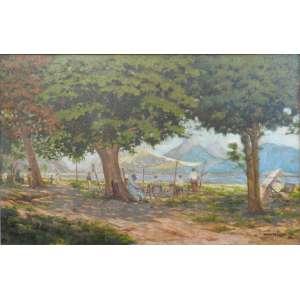 VICENTE LEITE - Paisagem Lagoa Rodrigo de Freitas - OST/CID - dat 30 - 108 x 168 cm