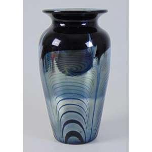 Vaso em vidro artístico - 28 cm alt, 15 cm diâm.