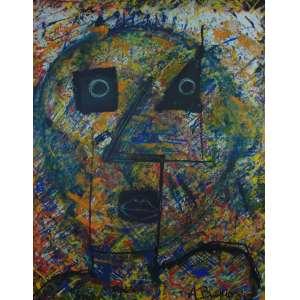 Artur Barrio - S/T - OST - ass.cid - 1986 - 160 x 126 cm. Tela enrolada. Não emoldurada.