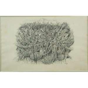 CARLOS PRADO, S/T, Nanquim sobre papel,ass. cid, 1981, 30 x 48 cm.
