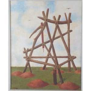 CARLOS PRADO, Alçapão, 1979, Têmpera 39 x 31 cm.