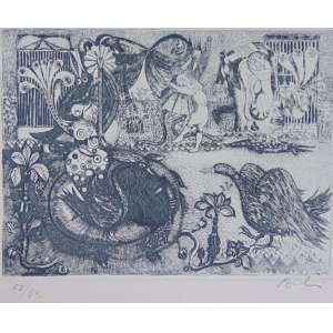 Babinski - S/T - gravura em metal - Ass. CID - Nº 68/80 - não emoldurada - 18 x 20 cm
