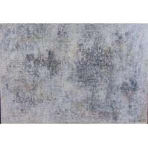 LEÓN FERRARI - Composição - Pastel oleoso sobre PVC. Dat 83 , assinado canto inferior direito . 55,5 x 80 cm.