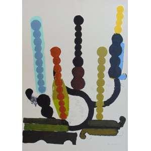 Paulo Whitaker - Composição serigrafia - 71/100 - (não emoldurada) - 98 x 69 cm.