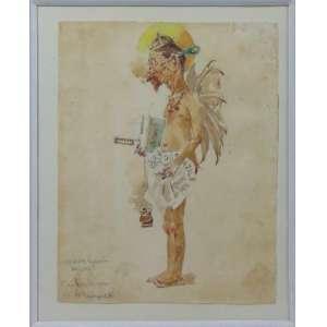 H.Bernadelli - Conde Pimenta - aquarela s/papel - Ass. e localizada Rio de Janeiro no CIE - 25 x 19 cm alt.
