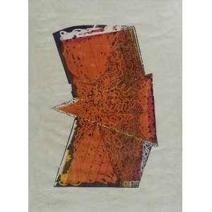 MARIA BONOMI. Abstrato - gravura - CID - datado de 2000 - 133 x 98 cm.