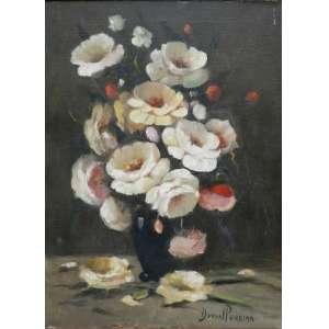 DURVAL PEREIRA. Vaso de flores - OST - CID - 70 x 50 cm.