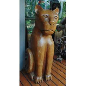Onça de madeira - Severino - 107 cm alt.
