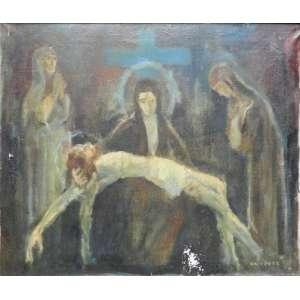 Wladimir Krivoutz . PIETÁ - OST - CID - (tela com perca de matéria) 45 x 54 cm.