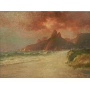 FRANCISCO CUCOLILO – Morro Dois Irmãos e Pedra da Gávea - OST/CID - 52 x 70 cm.