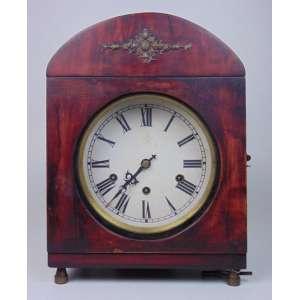 Relógio de mesa Madeira - 37 cm alt, 27 x 20 cm.
