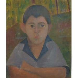 José Pancetti - Menino - Óleo sobre tela / Cid - 1943 - 56,5 x 50,5 cm