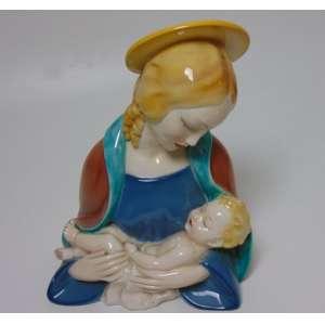 Nossa senhora porcelana italiana - 30 cm alt - (no estado)