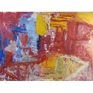 RODRIGO ANDRADE - Composição Abstrata - OST / Ass. no verso - dat 1992 - 90 x 120 cm.