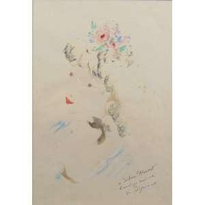 ANDRE DIGUIMONT - Figura feminina - Guache / CID - 32 x 22 cm.