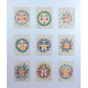 Carlos Pães Vilaró - Conjunto de 9 desenhos aquarelados - 17 x 13 cada