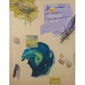 BOB NUGENT - Abstrato - Ass. no verso - dat. 2006 - 131 x 102 cm.