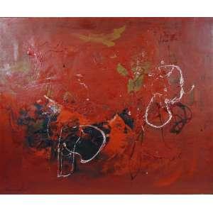 FUKUSHIMA - Abstrato - OST - CIE - Dat. 63 - 73 x 88 cm.