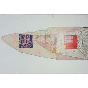 Baravelli - integração int/ext - Parque dos Príncipes Ass. no verso - tinta acrílica e crayon sobre compensado - 61 x 160 cm