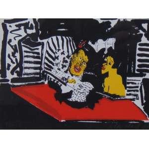 CILDO MEIRELES - S/T - Serigrafia- 83/300 - ass.cid - 1987 - 16x21 cm