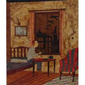 Sebastián Gordin - English Tea - 2011 - madeira em chapa, poliester e fibra de vidro - Edição: 2/3 - 31 x 27 cm.