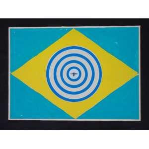 ZARAGOZA - S/T - Guache e colagem s/ cartão/CID - 50 x 70 cm. (não emoldurado)