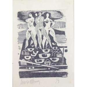 Livio Abramo - S/T - Xilogravura - 1/3- Ass. Cie -23 x 16 cm - não emoldurada.