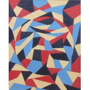 Niobe Xandó - S/T - AST - ass.cie - 1983 - 38x30 cm - etiqueta de Paulo Figueiredo Galeria de Arte no verso.