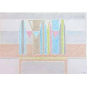 FERREIRA GULLAR - S/T - técnica mista s/ cartão - ass. cid - 2011 - 23x32 cm - não emoldurada.