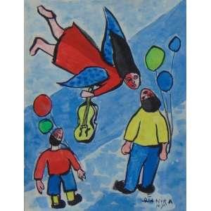 DJANIRA MOTTA E SILVA - S/T - Guache s/ papel - ass.cid, localizado N.Y. - final década 1940 - 16x12 cm - ex-coleção Marcos Marcondes.