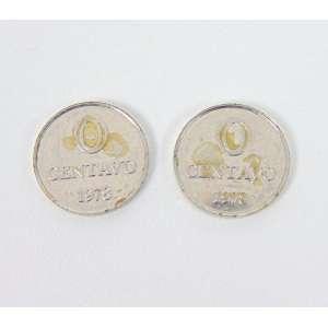 CILDO MEIRELES - Zero Centavo - Par de moedas cunhadas frente e verso - 1978 - 13 mm diâmetro