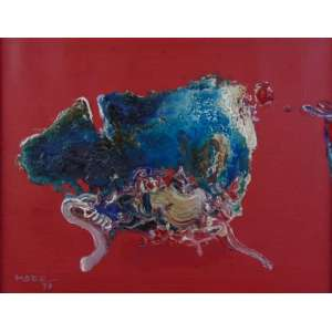 MABE MANABU - Abstrato - OST / CIE - Dat 1973 - 32 x 40 cm