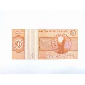 CILDO MEIRELES - Zero Cruzeiro - Impressão offset, frente e verso - 1978 - 7x15,5 cm