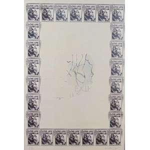 Nelson Leirner - Love Life Of A Gorila - Serigrafia - Ass. CID - P.A - 1968 - (emoldurada com vidro trincado) - 89 x 60 cm.
