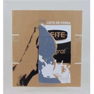 Matheus Rocha Pitta - Leite de Pedra - Serigrafia s/caixa de papelão - 2019 - Certificado MAM - SP - 53 x 48 cm.(moldura em acrílico)<br />