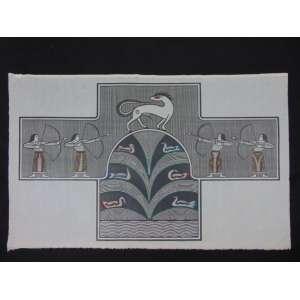 Samico - O Segredo do Lago - Xilogravura - 9/100 - Ass. CIE 1983 - 62 x 99 cm. (não emoldurado - Apresenta pequenas manchas amareladas na área não impressa da gravura)