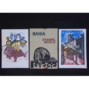 Emanoel Araújo - Bahia - 7 Xilogravuras Originais - Assinadas e datadas 1964- apresentação de Odorico Tavares - Editora Cultrix, 1965