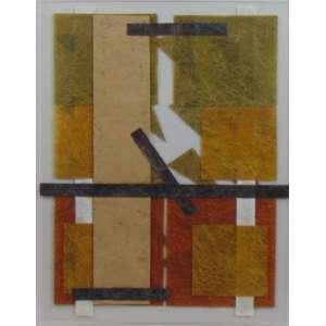 Emanuel Correia - Estudo de composição I - Fibra sobre policarbonato 2013 - ass. no verso - 36 x 30 cm.
