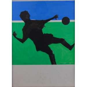 Aldemir Martins - futebol - guache s/cartão - ASS. CID 1960 - 55 x 41 cm.