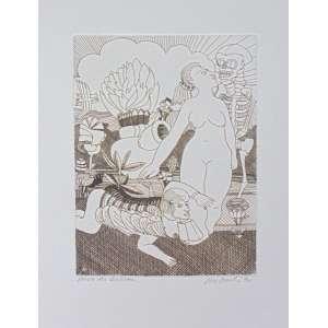 Babinski, Maciej - S/T - gravura em metal - Ass. CID - P.A. 1970 - não emoldurada - 33 x 22 cm.