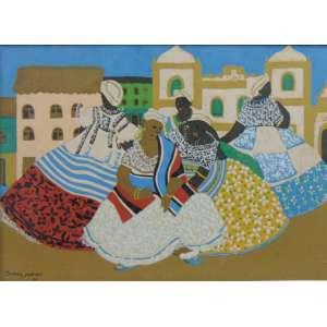 IVAN MORAES - Baianas - serigrafia - ass. na matriz,cie - 27x38 cm