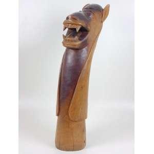 Autor desconhecido - Carranca - Escultura em madeira - 83 x 18 cm.