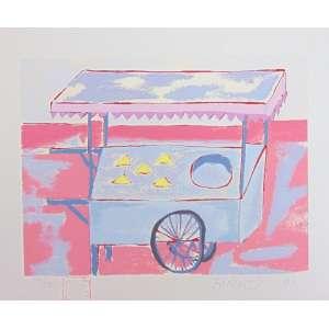 Fang - Carrinho de sorvete - serigrafia - 144/150 - Ass. inf. dir - 1991 - 20 x 24 cm - não emoldurada.