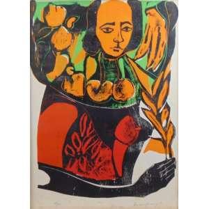 Emanoel Aráujo - S/T - Xilogravura - 32/100 - Ass. Cid - 1970 - 64 x 46 cm.